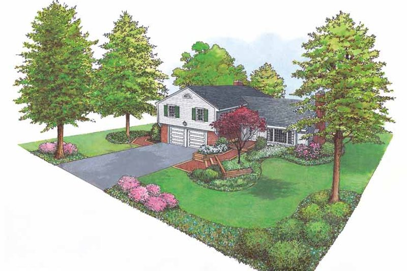 Ranch Exterior - Front Elevation Plan #1040-29