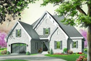 Home Plan - European Exterior - Front Elevation Plan #23-333