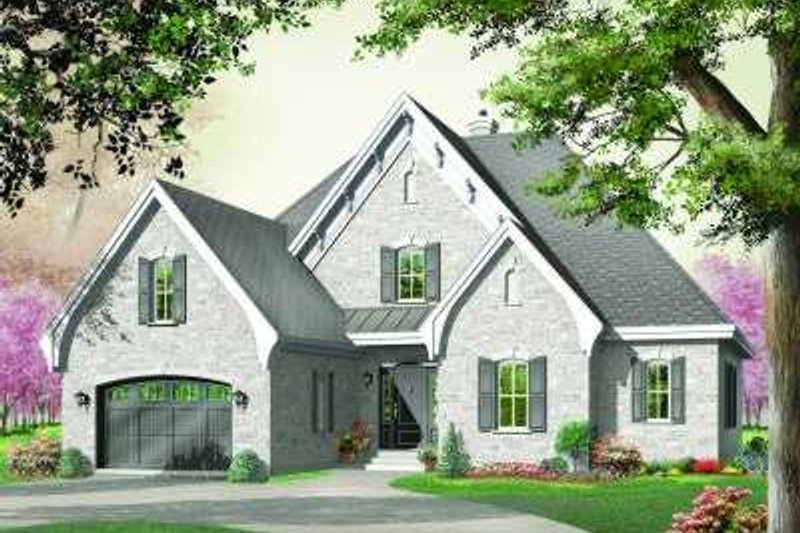 Home Plan - European Exterior - Front Elevation Plan #23-333