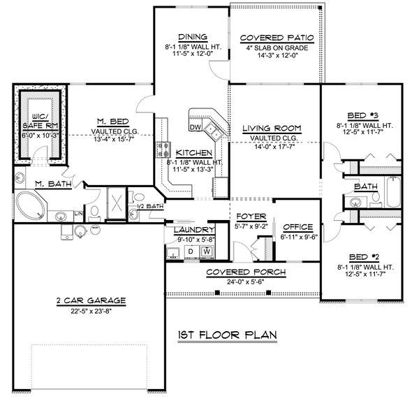 Dream House Plan - Ranch Floor Plan - Main Floor Plan #1064-80