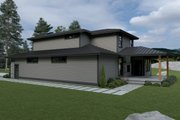 Contemporary Style House Plan - 3 Beds 2.5 Baths 2665 Sq/Ft Plan #1070-18 Exterior - Other Elevation