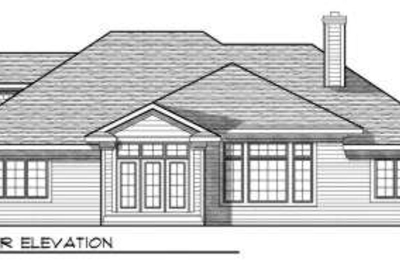 Traditional Exterior - Rear Elevation Plan #70-698 - Houseplans.com