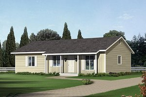 Ranch Exterior - Front Elevation Plan #57-233