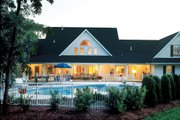 Country Style House Plan - 4 Beds 3.5 Baths 3037 Sq/Ft Plan #929-22 Exterior - Rear Elevation