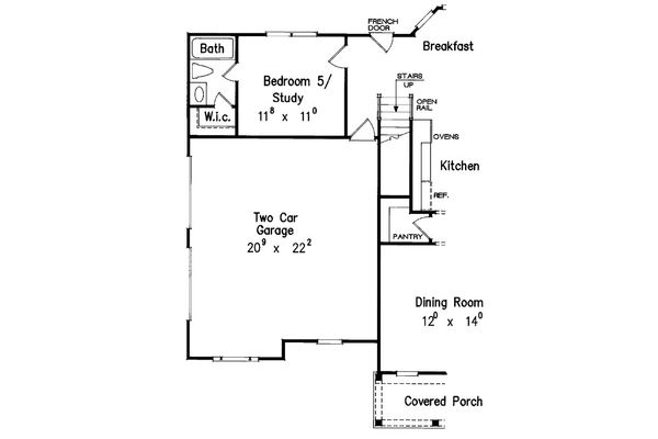 House Plan Design - Optional 5th Bedroom Study & Bath
