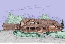 Dream House Plan - Country Exterior - Front Elevation Plan #60-395