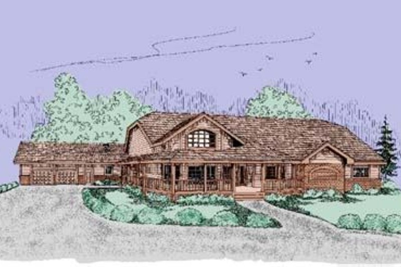 Country Exterior - Front Elevation Plan #60-395 - Houseplans.com