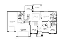 Craftsman Floor Plan - Main Floor Plan Plan #920-110