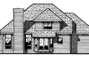 House Plan - 4 Beds 2.5 Baths 1957 Sq/Ft Plan #20-2010 Exterior - Rear Elevation