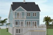 Beach Style House Plan - 5 Beds 3 Baths 2180 Sq/Ft Plan #898-44 Exterior - Rear Elevation