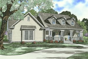 Country designed house elevation