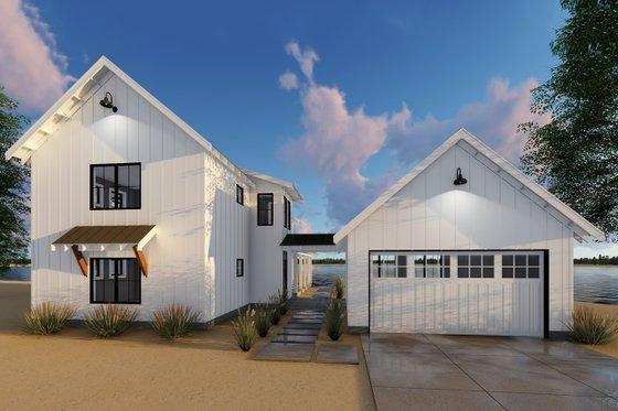 Farmhouse Exterior - Front Elevation Plan #455-208