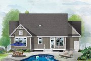 Craftsman Style House Plan - 3 Beds 2 Baths 1369 Sq/Ft Plan #929-1105 Exterior - Rear Elevation