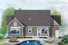 Dream House Plan - Craftsman Exterior - Rear Elevation Plan #929-1105
