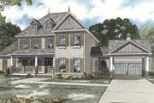 House Design - Colonial Exterior - Front Elevation Plan #17-2102