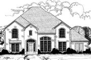 European Style House Plan - 6 Beds 5 Baths 4217 Sq/Ft Plan #317-134 Exterior - Front Elevation