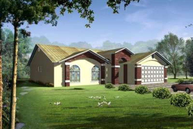 Adobe / Southwestern Style House Plan - 3 Beds 2 Baths 1630 Sq/Ft Plan #1-324