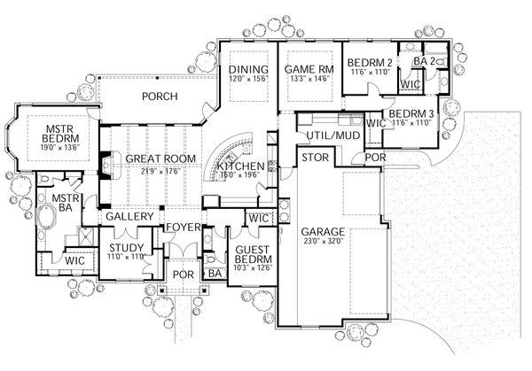 Dream House Plan - Country Floor Plan - Main Floor Plan #80-176