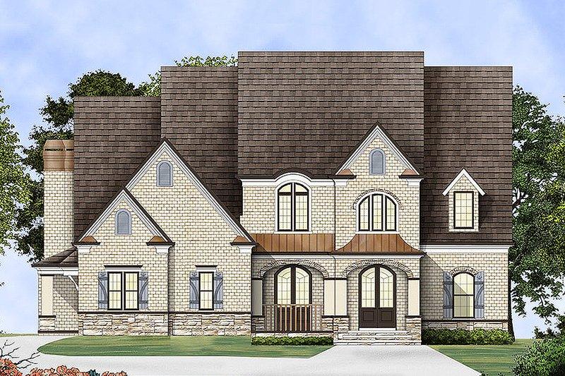 Dream House Plan - European Exterior - Front Elevation Plan #119-293