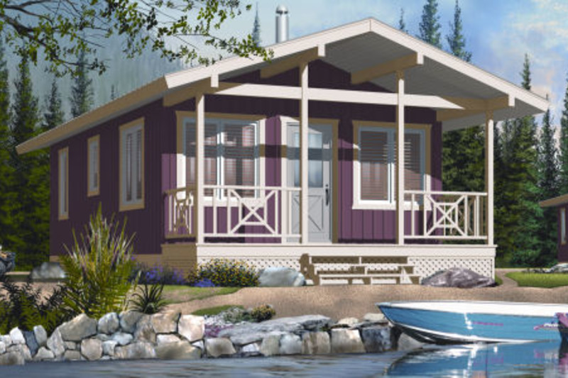 Cottage Exterior - Front Elevation Plan #23-2291