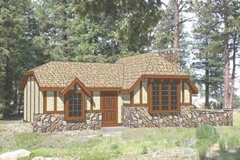Tudor Style House Plan - 2 Beds 1 Baths 775 Sq/Ft Plan #116-113 Exterior - Front Elevation