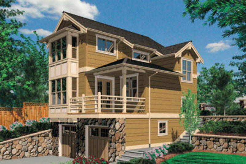 Craftsman Exterior - Front Elevation Plan #48-370