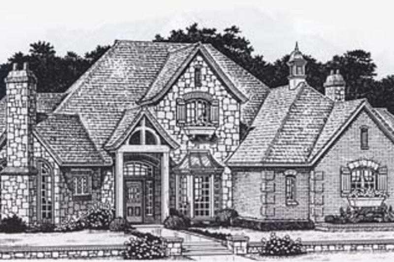 Colonial Style House Plan - 4 Beds 3.5 Baths 3923 Sq/Ft Plan #310-948 Exterior - Front Elevation