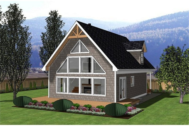 Cabin Style House Plan - 3 Beds 2 Baths 1249 Sq/Ft Plan #126-188 Exterior - Front Elevation