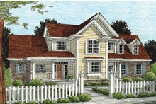 Home Plan - Country Exterior - Front Elevation Plan #20-367