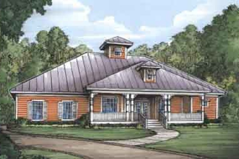 Farmhouse Style House Plan - 3 Beds 2 Baths 2189 Sq/Ft Plan #115-178 Exterior - Front Elevation