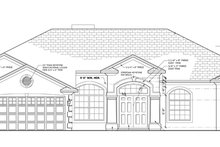 Mediterranean Exterior - Front Elevation Plan #1058-44