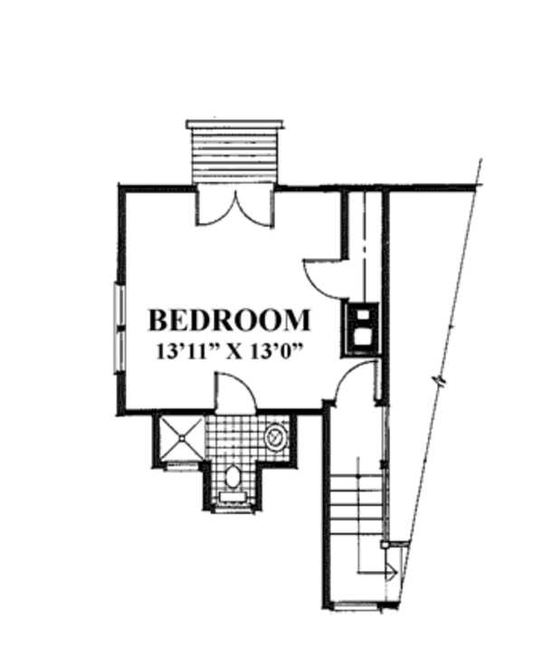 Country Floor Plan - Upper Floor Plan Plan #961-1