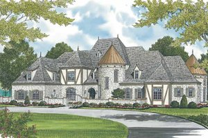 European Exterior - Front Elevation Plan #453-609