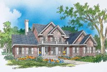 Home Plan - Colonial Exterior - Front Elevation Plan #929-276