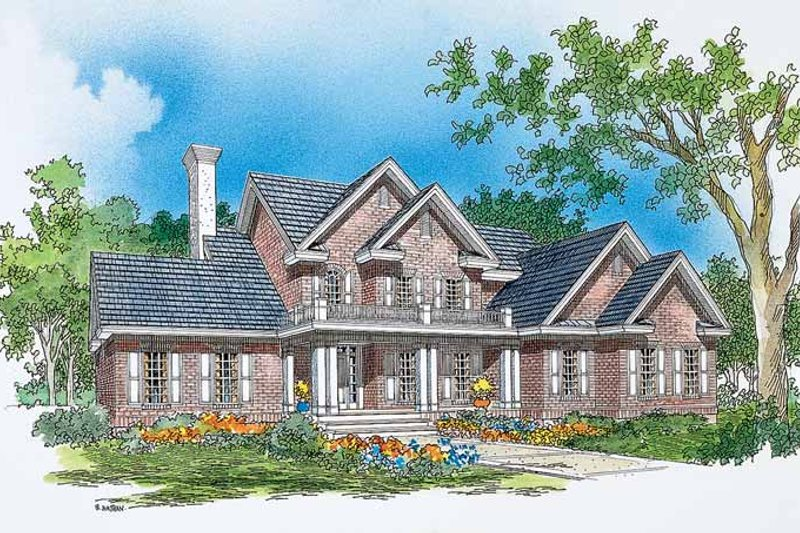 Colonial Style House Plan - 3 Beds 2.5 Baths 2301 Sq/Ft Plan #929-276