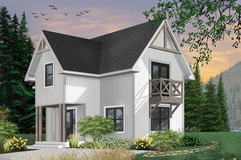 Architectural House Design - Country Exterior - Front Elevation Plan #23-2026