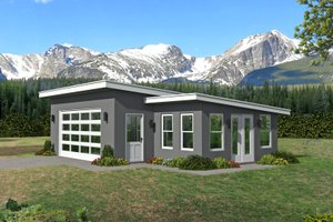 Architectural House Design - Modern Exterior - Front Elevation Plan #932-381