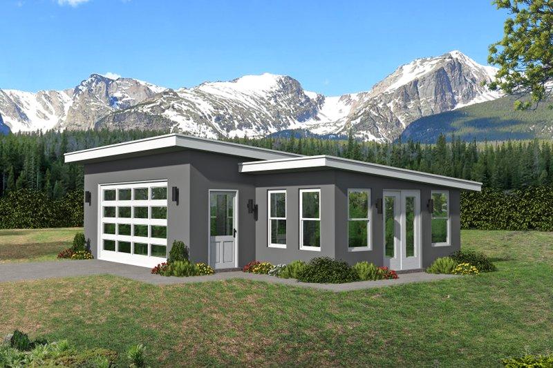 Architectural House Design - Modern Exterior - Front Elevation Plan #932-381