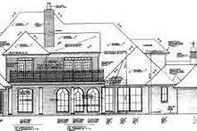 European Exterior - Rear Elevation Plan #310-236