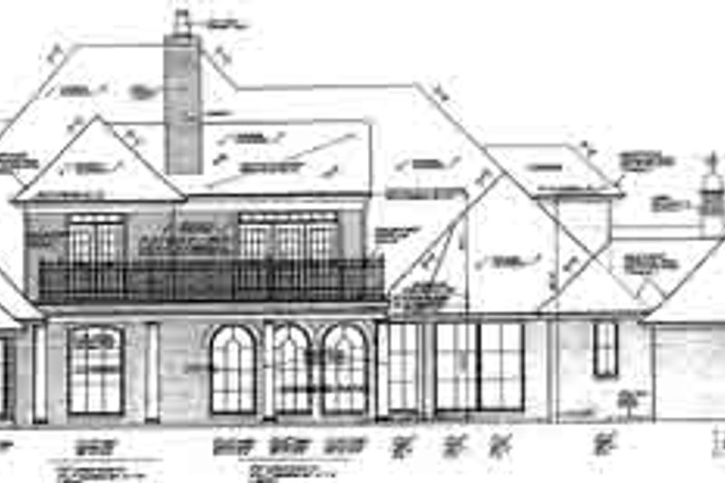 European Exterior - Rear Elevation Plan #310-236 - Houseplans.com