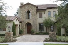 Dream House Plan - Mediterranean Exterior - Front Elevation Plan #1019-1