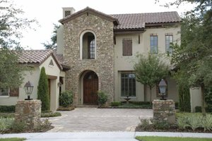 Mediterranean Exterior - Front Elevation Plan #1019-1