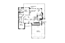 Craftsman Floor Plan - Main Floor Plan Plan #117-859