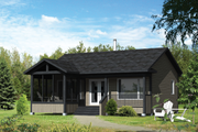 Country Style House Plan - 2 Beds 1 Baths 600 Sq/Ft Plan #25-4357