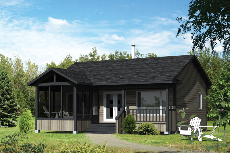 Country Style House Plan - 2 Beds 1 Baths 600 Sq/Ft Plan #25-4357 Exterior - Front Elevation