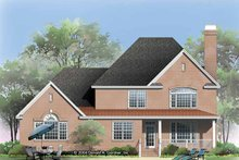 Home Plan - Traditional Exterior - Rear Elevation Plan #929-794