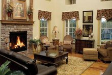 House Plan Design - Country Interior - Family Room Plan #929-634