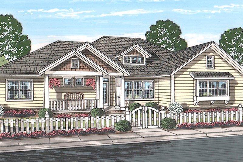 Ranch Exterior - Front Elevation Plan #513-2159 - Houseplans.com
