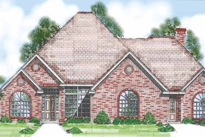 House Plan Design - Traditional Exterior - Front Elevation Plan #52-262