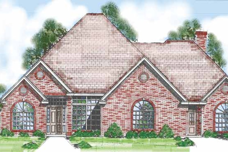 Traditional Exterior - Front Elevation Plan #52-262 - Houseplans.com